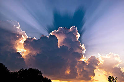 Photograph - Sun Rays And Clouds by Amber Flowers