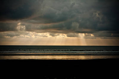 Photograph - Sun Rays On The Ocean by Anthony Doudt