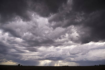Storms Photograph - Sun Rays Through Stormclouds by Jennifer Brindley
