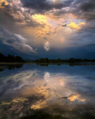 Sun Risen Reflections Art Print by Phil Koch