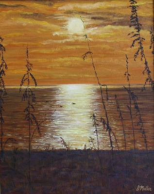 Sun Setting In Florida Art Print by Donna Muller