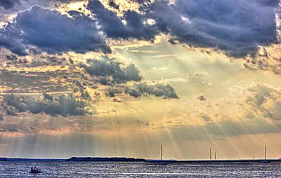Photograph - Sun Setting On Amelia Island by Barry Jones