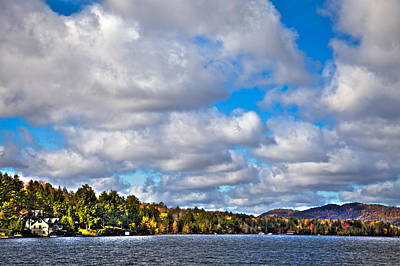 Fir Trees Photograph - Sun Shinning Over Fourth Lake by David Patterson
