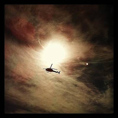Helicopter Photograph - #sun #sky #helicopter #photoinstagram by Avatar Pics