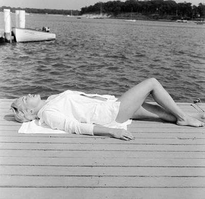 Sunbather Art Print by Jacobsen