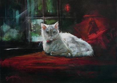 Tom Cat Painting - Sunbather by Tom Shropshire