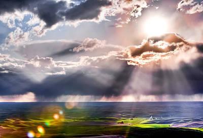 Photograph - Sunburst 2 by Niels Nielsen