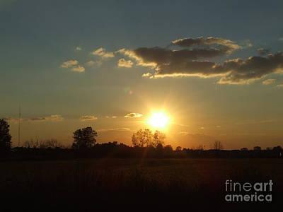 Photograph - Sunburst Sky by Scott B Bennett