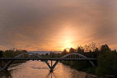 Sunburst Sunset Over Caveman Bridge Art Print