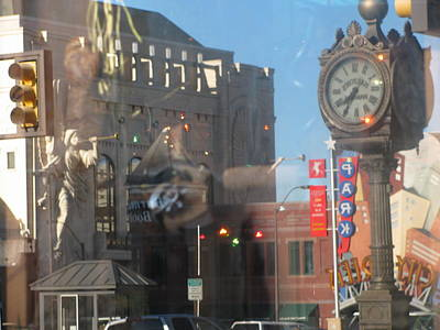 Sundance Square Reflection  Art Print by Shawn Hughes
