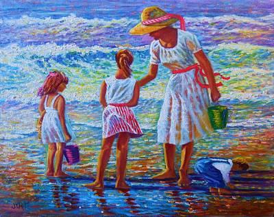 Sunday Afternoon Shore Study Art Print by Joseph   Ruff