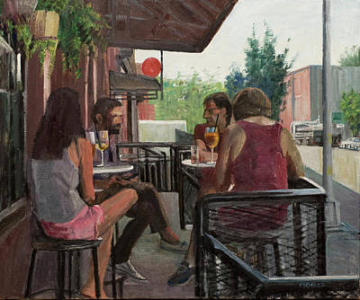 Elinore Schnurr Painting - Sunday Morning Drinks by Elinore Schnurr