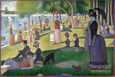Painting - Sunday On The Grand Jatte by Pg Reproductions