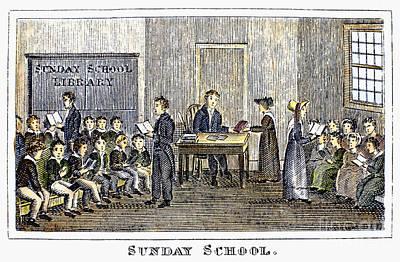 Sunday School, 1832 Art Print by Granger