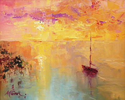 Marie Green Painting - Sunday Sunset by Marie Green