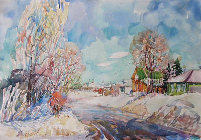 Painting - Sunday. Winter by Juliya Zhukova