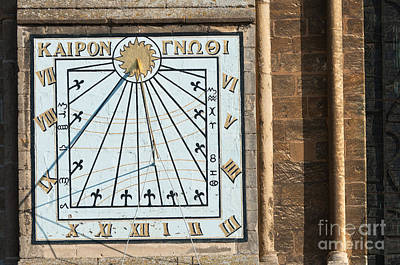 Art Print featuring the photograph Sundial by Andrew  Michael