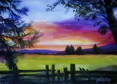 Painting - Sundown And Quail St Annas by Therese Fowler-Bailey