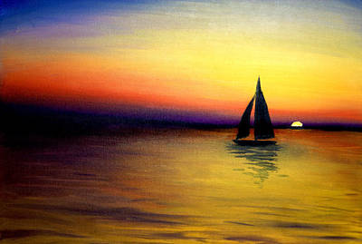 Solitary Painting - Sundown by Brittany Prichard