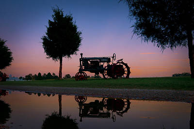 Photograph - Sundown On Farmall At Chippokes by Williams-Cairns Photography LLC