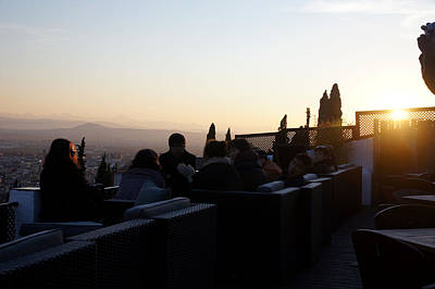 Photograph - Sundowners In Granada by Rod Jones