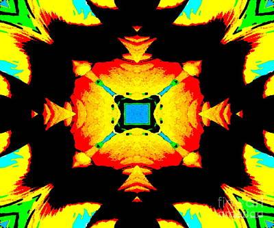 Photograph - Sunflower - A Mandala Paintograph by Christine S Zipps