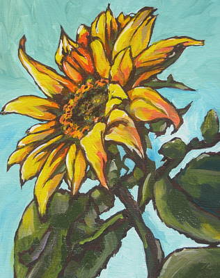 Sunflower 1 Art Print by Sandy Tracey