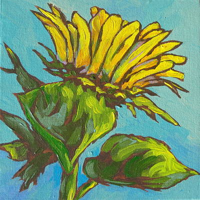 Sunflower Painting - Sunflower 2 by Sandy Tracey