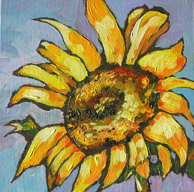 Sunflower Painting - Sunflower 4 by Sandy Tracey