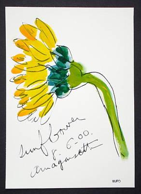 Amagansett Painting - Sunflower Amagansett by David Rufo