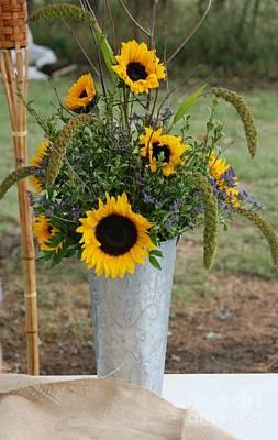Photograph - Sunflower Bouquet by Mark McReynolds