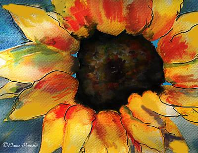 Painting - Sunflower by Elaine Pawski