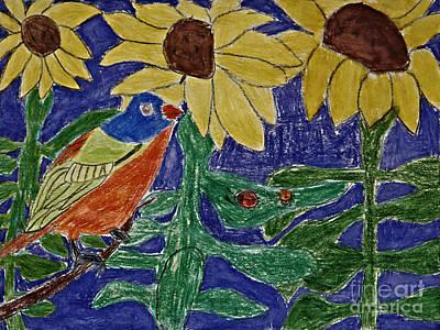 Sunflower Garden Original by Stephanie Ward
