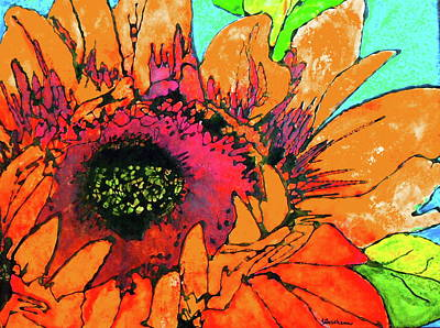 Painting - Sunflower Hues by Laura  Grisham