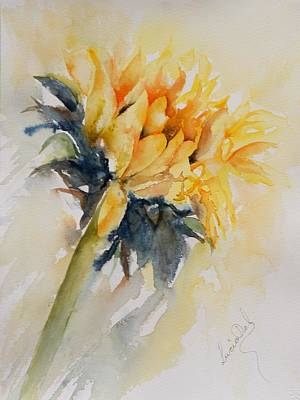 Watercolor Painting - Sunflower by Lucia Del
