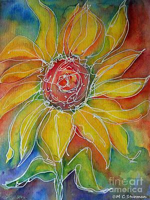 Sunflower Art Print by M C Sturman