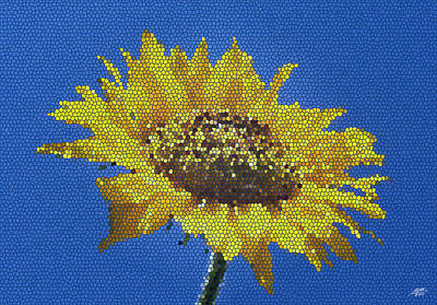 Sunflower Mosaic Art Print by Steve Huang