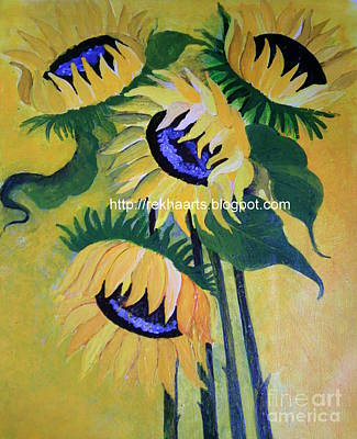 Painting - Sunflower by Rekha Artz