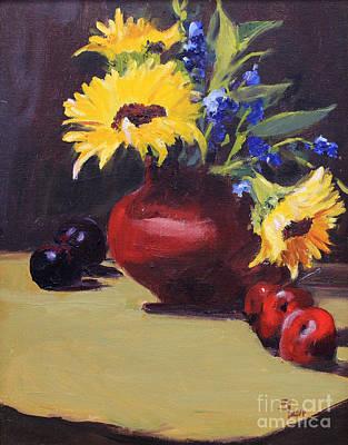 Natchez Painting - Sunflower by Sandy Lane