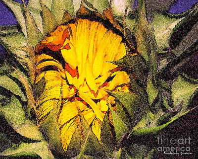 Mixed Media - Sunflower Slumber by Kimberly  Brown