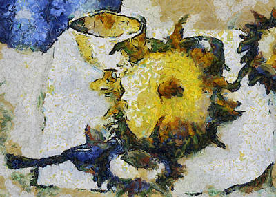 Painting - Sunflower Still Life by Michelle Calkins
