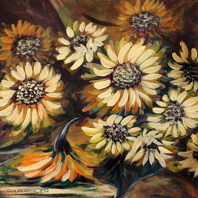 Painting - Sunflowers 12 Square Painting by Gina De Gorna
