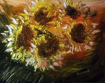 Sunflowers 3 Art Print by Raymond Doward