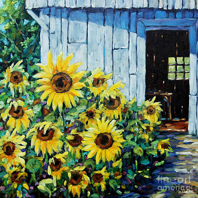 Sunflowers And Sunshine By Prankearts Art Print