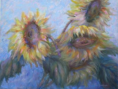 Art Print featuring the painting Sunflowers by Bonnie Goedecke