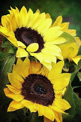 Sunflowers Art Print by Cathie Tyler