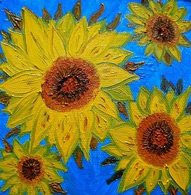 Girasol Painting - Sunflowers by Evelyn SPATZ