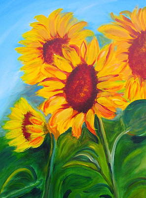 Sunflowers For California Lovers Art Print by Dani Altieri Marinucci