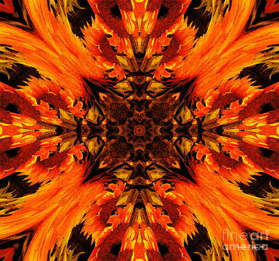 Photograph - Sunflowers For Patriot Day Mandala - A Remembrance Day Paintograph by Christine S Zipps