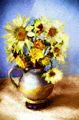 Sunflowers Art Print by Heiko Mahr
